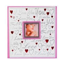 Álbum com Memo e Visor I Love para 200 Fotos 10X15 cm - Square center -