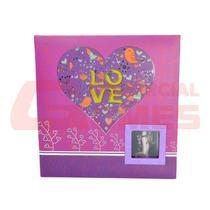Álbum com memo e visor pink love para 200 fotos 10x15 cm - Square Center