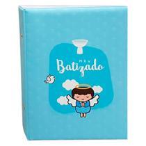 Álbum Comemorativo 80 Fotos 15x21 Batizado Azul - Ical
