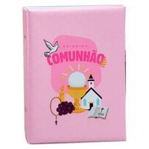 Álbum Comemorativo 80 Fotos 15x21 Comunhao Rosa - Ical