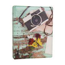 Álbum de 500 fotos 10x15 Aquarela Câmera - 151577 - Tudoprafoto