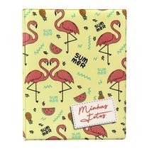 Álbum de 500 fotos 10x15 Aquarela Flamingo c/ ADESIVOS - Tudoprafoto