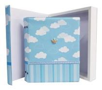 Album de Bebe Nuvens 200 fotos 10x15 com caixa e diario - Photoalbum