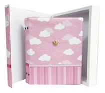 Album de bebe princesa  200 fotos 10x15 com caixa e diario - Photoalbum
