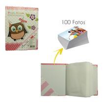 Album De Fotos 100 Fotos 10x15 Rosa Laço - Shopud