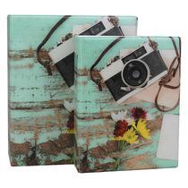 Álbum de Fotos 10x15 Câmera 500 fotos c/ Estojo Fecho Imã - 167499 - Tudoprafoto