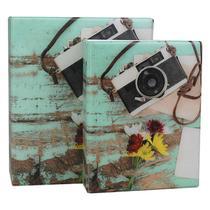 Álbum de Fotos 10x15 Câmera 500 fotos c/ Estojo Fecho Imã - Tudoprafoto