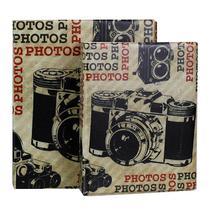 Album de Fotos 10x15 Câmeras 500 fotos c/ Estojo Fecho Imã - Tudoprafoto