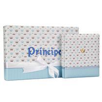 Álbum de Fotos 10x15 Principe c/ Diário do Bebê e Maleta - 152142 - Tudoprafoto