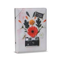 Álbum de Fotos 10x15 Retro Câmera Flores 120 fotos - 178852 - Tudoprafoto