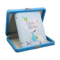 Álbum de Fotos Baby Azul Cegonha para 40 Fotos 15x21 - 108071 - 97731 - Tudoprafoto