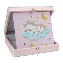 Álbum de Fotos Bebê Urso 100 Fotos 20x25 c/ Maleta Rosa - 171116 - Tudoprafoto