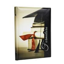 Álbum de Fotos Capa Formatura Marrom Capelo 40 Fotos 15x21 - Álbuns E Fotos