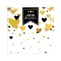 Álbum De Fotos Casal Love You Forever Para 500 Fotos 10x15 - Square Center -