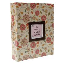 Álbum de Fotos Estampa Floral 200 Fotos 10x15cm YES -