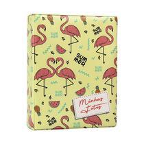 Álbum de Fotos Flamingo Aquarela para 500 fotos 10x15 Com Adesivos - 10022 - TUDOPRAFOTO