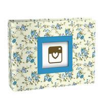 Álbum De Fotos Floral Azul P/ 100 Fotos 10x15 Yes -