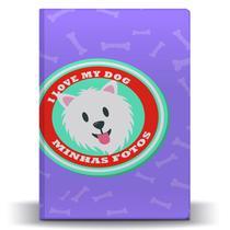 Álbum de Fotos Lilás Pet Dog Chihuahua para 500 Fotos 10x15 - Tudoprafoto