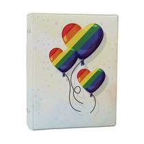 Álbum de Fotos Love Arco íris para 500 fotos 10x15 Com Adesivos - 10019 167906 - Tudoprafoto