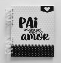 Álbum de fotos para scrapbook Amor de Pai 18,5x15cm presente dia dos pais - Viva O Amor Ateliê