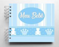 Álbum de fotos para scrapbook infantil Meu Bebê 15,7x18,5cm folhas pretas - Viva O Amor Ateliê