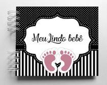 Álbum de fotos para scrapbook infantil Meu Bebê 15,7x18,5cm - Viva O Amor Ateliê