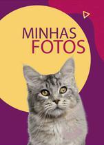 Álbum de Fotos Pet Cat Cinza Rajado para 500 Fotos 10x15 - Tudoprafoto