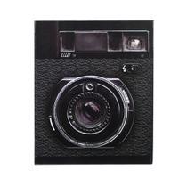Álbum De Fotos Preto Câmera Retrô Para 500 Fotos 10x15cm - Bv Álbuns