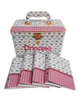 Álbum De Fotos Princesa Letreiro Bordado 15x21 Com Maleta 160 Fts - Photoalbum