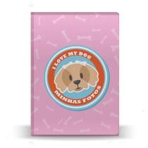 Álbum de Fotos Rosa Pet Dog Beagle 500 Fotos 10x15 - Tudoprafoto