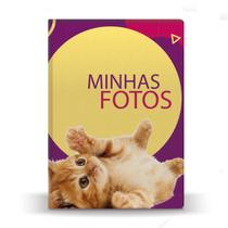 Álbum de Fotos Roxo Pet Cat Amarelo 500 Fotos 10x15 - Tudoprafoto
