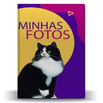 Álbum de Fotos Roxo Pet Cat Frajola para 500 Fotos 10x15 - Tudoprafoto
