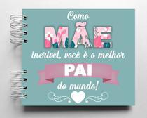 Álbum de fotos scrapbook Mãe Incrível 15,7x18,5cm presente para mãe solo - Viva O Amor