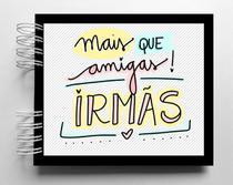 Álbum de fotos scrapbook Melhor Amiga 15,7x18,5cm presente para amiga - Viva O Amor Ateliê