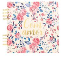 Álbum de Fotos STZ  Com Amor Floral Rosa -