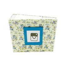 Álbum de Fotos Yes 100 Fotos 10x15cm Floral Azul -