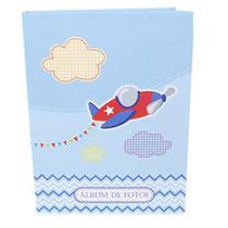 Álbum Do Bebê - 80 Fotos 15x21- Desenho Avião Ical -