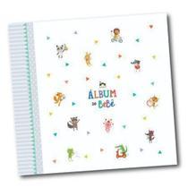 Album do Bebê Bichinhos Cinza - Coloré -