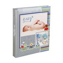 Álbum do Bebê Yes 25x20,5cm com 80 Fotos 10x15cm Azul -