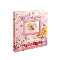 Álbum do Bebê Yes 25x20,5cm com 80 Fotos 10x15cm Rosa -