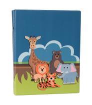 Álbum Fotográfico 20x25 - 80 Fotos- SAFARI - Selva Bebê Infantil - Photo Álbum Universal