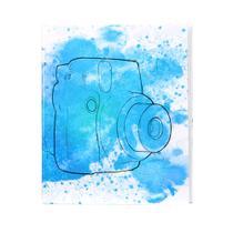 Álbum Fotográfico Câmera Aquarela Azul Para 500 Fotos 10x15 - Bv Álbuns