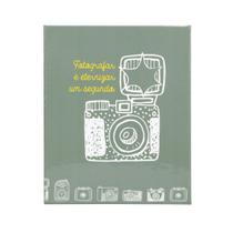 Álbum Fotográfico Cinza Câmera Retrô Para 500 Fotos 10x15 - Bv Álbuns