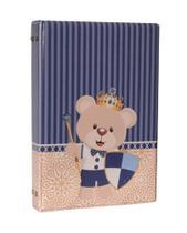 Álbum Fotográfico P/ 200 Fotos 10x15 Urso Escudo - Bebê Infantil Azul Marinho - Pirlim Foto