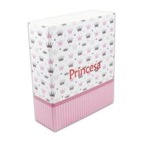 Álbum Fotográfico Princesa Rosa Com Estojo 500 Fotos 10x15 - Bv Álbuns