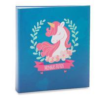 Álbum Infantil Rebites 500 Fotos 10x15 Ical Unicor Azul -