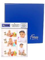 Álbum Mega 500 Fotos 10x15 Azul + Refil Extra P/ 100 Fotos - Ical