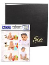 Álbum Mega 500 Fotos 10x15 Preto Ferragem + Refil 100 Fotos Extra - Ical