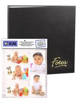 Álbum Mega 500 Fotos 10x15 Preto Ferragem + Refil 100 Fotos - Ical