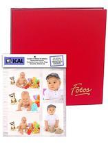 Álbum Mega 500 Fotos 10x15 Vermelho + Refil 100 Fotos Extra - Ical
